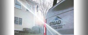 Stead Technician on Ladder